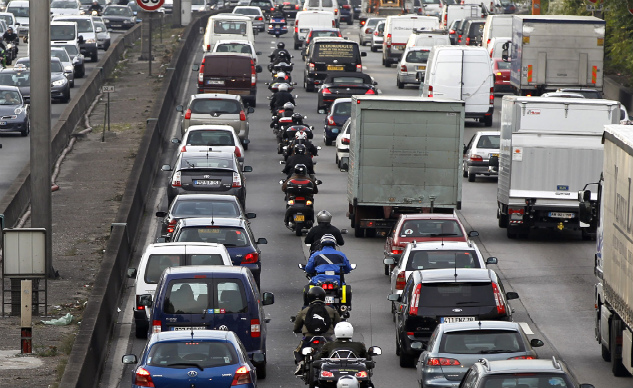 Lane Splitting Traffic Congestion