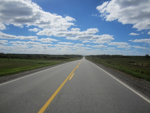 Open Highway on the way to Fort Frances