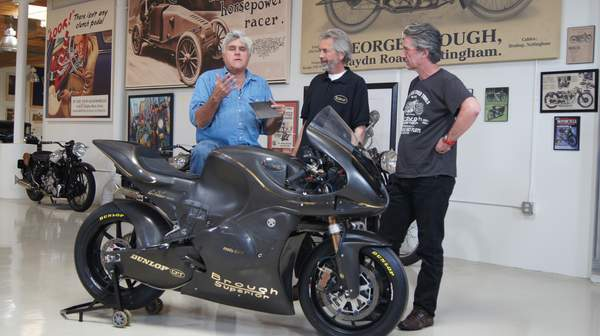 Jay Leno is a fan of what Paul Taylor (center) and John Keogh (right) have created. Here's hoping that amounts to future success.