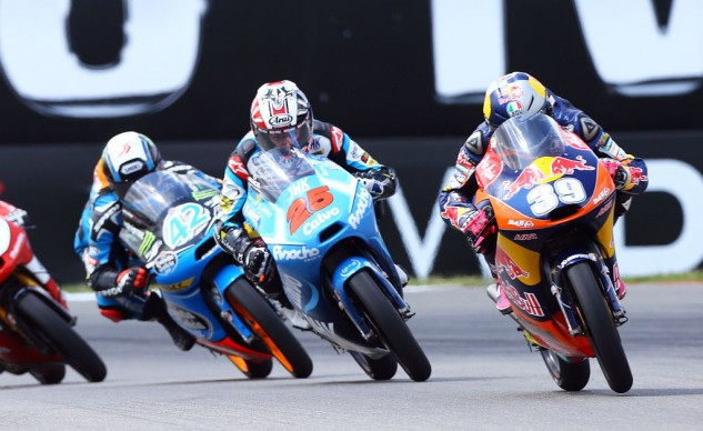 The lower ranks offer some drama for Valencia too. Luis Salom (39) leads Maverick Vinales (25) by just 2 points while Alex Rins (42) trails by just 5 points. The three riders all shared the podium eight times this season.