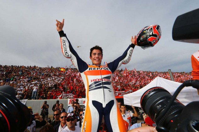 Marc Marquez rode safely to a third-place finish to claim the 2013 MotoGP Championship.