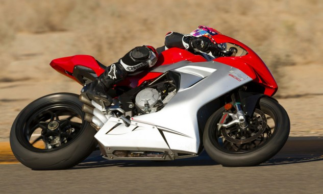 2014 MV Agusta F3 800 Action Hard Lean
