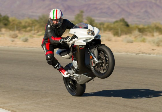 2014 MV Agusta F3 800 Action Wheelie