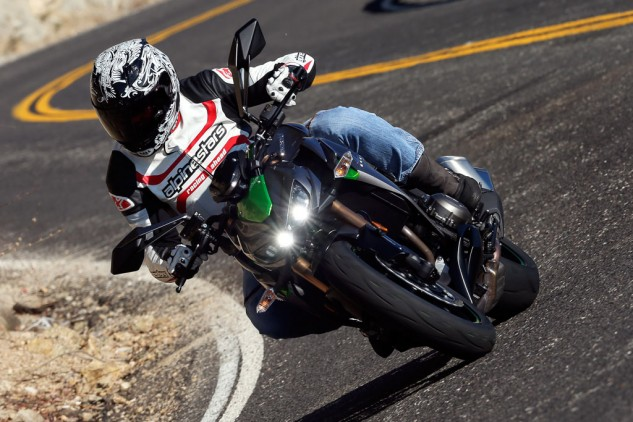 Clutch and transmission functioned flawlessly while riding the new Z. We complained about clutch throw and engagement/disengagement in our Ninja 1000 review. Someone at Kawasaki's paying attention.