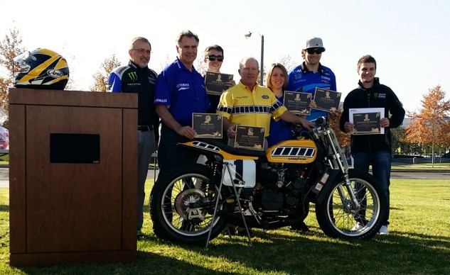 Yamaha champions, including Kenny Roberts and Gary Jones, were honored at Yamaha's year-end champions celebration.