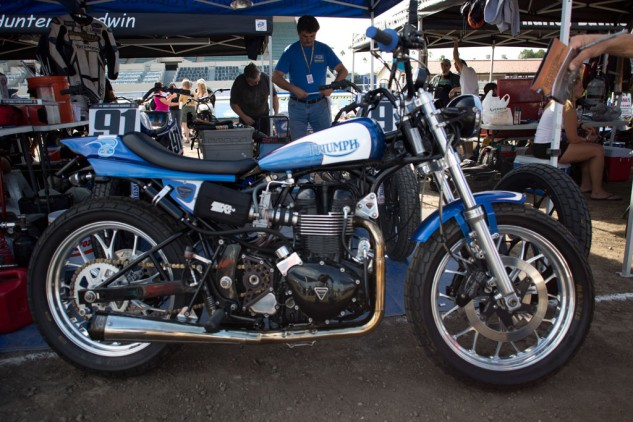 2013 Triumph Bonneville-Performance Street Tracker Right Side