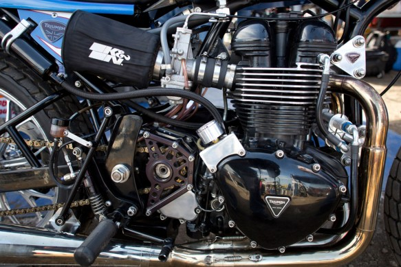 2013 Triumph Bonneville Performance Street Tracker Engine