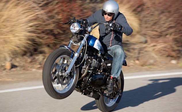 2013 Triumph Bonneville Performance Street Tracker Feature