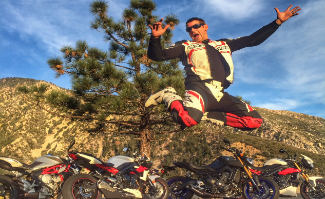On a good day, being a moto-journalist can make you jump for joy.
