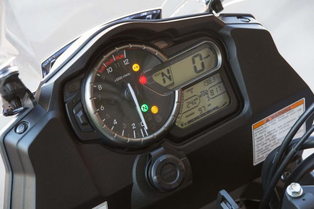 2014 Suzuki V-Strom instrument display