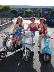 ladies on scooters