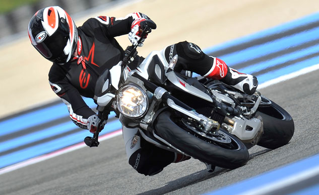 2014 MV Agusta Brutale 800 Dragster Cornering Right