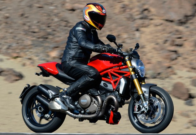 2014 Ducati Monster 1200 Action Right