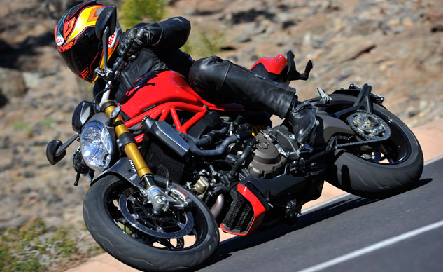 2014 Ducati Monster 1200 Action Left