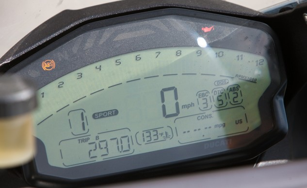 2014 Ducati 899 Panigale Instrument Panel