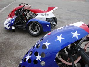 MiniMoto Sidecar stars and stripes