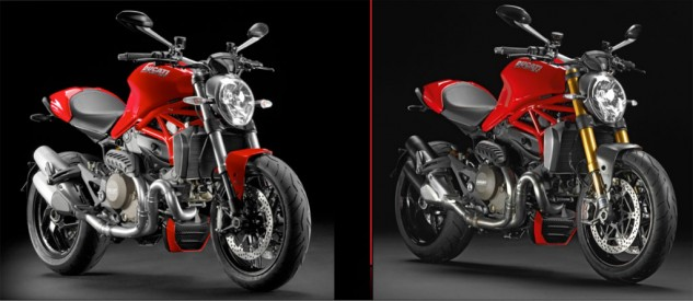 2014 Ducati Monster 1200 and 1200 S Angle