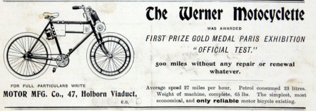 Werner Motocyclette Advertisement