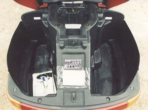 Honda Pacific Coast 800 trunk head-on