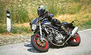 2001 Ducati Monster S4 right action profile