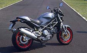 2001 Ducati Monster S4 right rear profile