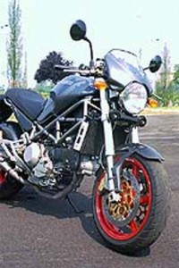 2001 Ducati Monster S4 right front profile