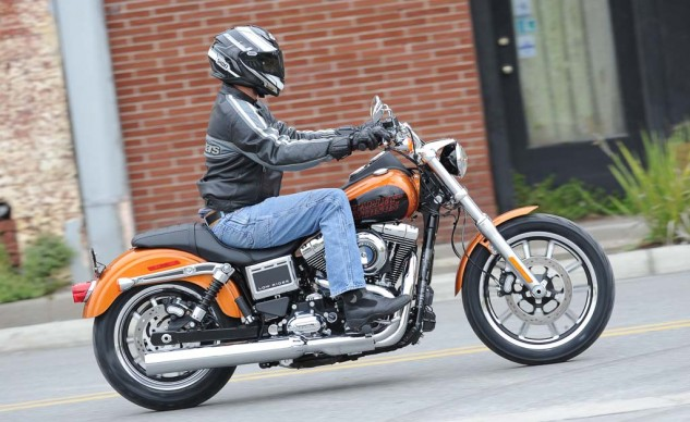 """The riding position is relaxed for a 5'11"""" rider, but we wish Harley had included an inch of fore/aft adjustment for the footpegs."""