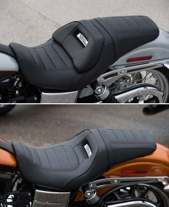 Sometimes a simple solution is the best one. Take a look at how the same seat can support two different sized riders.