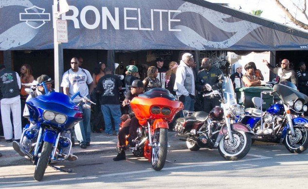 Black Bike Week has grown in importance to the point that Harley has a display at the venue.
