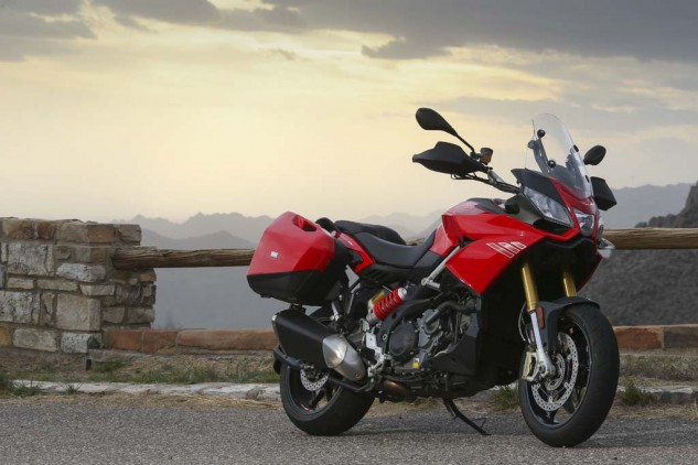 Adventure-Touring looks with a sportbike heart, the 2014 Aprilia Caponord 1200 Travel Pack is one of the most technologically advanced motorcycles on the market today.
