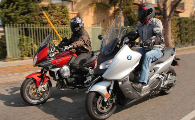 2014-Aprilia-Mana-and-BMW-C600-Sport