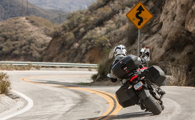 2014 Ducati Multistrada Granturismo Action Rear