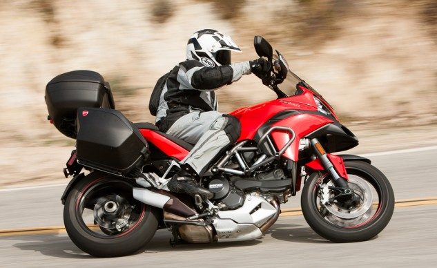 2014 Ducati Multistrada Granturismo Action Right