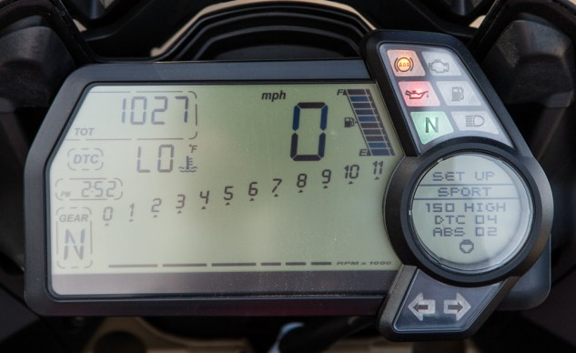 2014 Ducati Multistrada Granturismo Digital Display