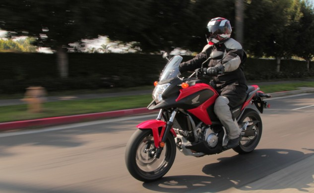 2014 Honda NC700X Action Left