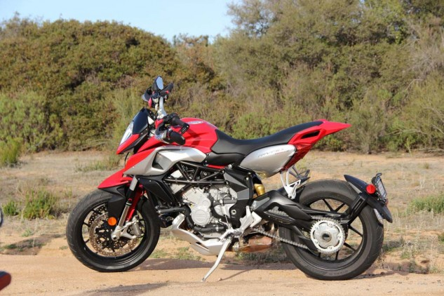 From any angle, the MV Agusta Rivale is a gorgeous motorcycle with great performance. The question now is: how will it fare against its cross-town rival, the Ducati Hypermotard SP?