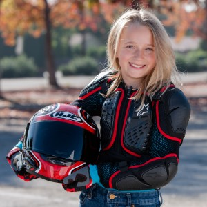 Girl with proper riding gear