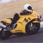 1998 Honda CBR900RR Yellow action 6