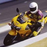 1998 Honda CBR900RR Yellow action 1
