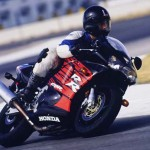 1998 Honda CBR900RR black red action 1
