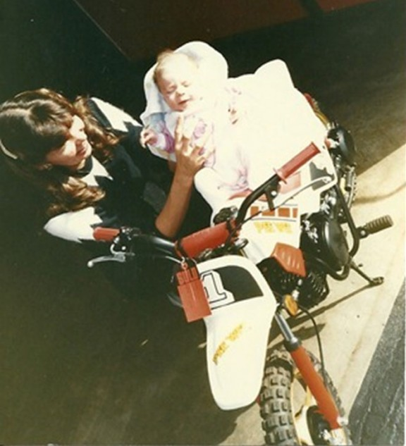 Baby with New Motorcycle