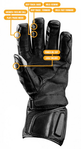 BearTek Bluetooth Gloves Palm