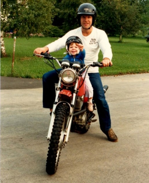 Father and Daughter Motorcycling