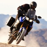 Super Tenere right pan offroad action