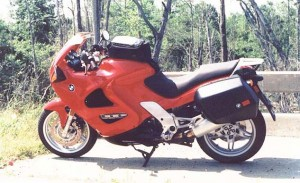 BMW K1200RS red left profile