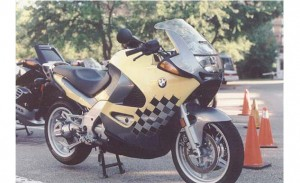 BMW K1200RS yellow right front profile