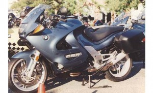 BMW K1200RS blue left front profile