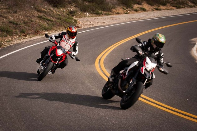 Both bikes are evenly matched in the handling department, though the MV Agusta has the legs when the road straightens.
