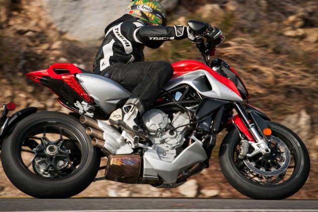 The Rivale is proof of MV's quest to solve its fuel-mapping issues. The new arrangement of 1s and 0s in the bike's ECU controlling throttle/fuel issues has transformed the 798cc Triple into one of the best power sources to ever propel a motorcycle.