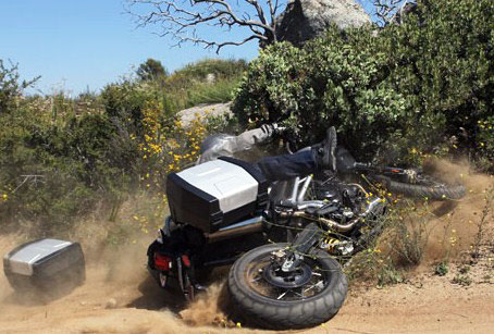 And here's me on a Triumph Tiger 800XC without traction control.